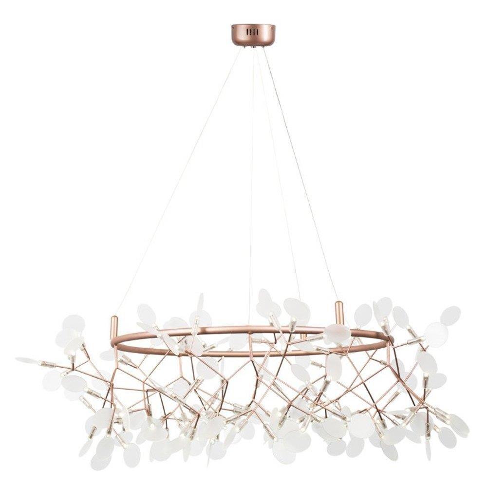 Lampa wisząca CHIC BOTANIC L LED miedziana 105 cm