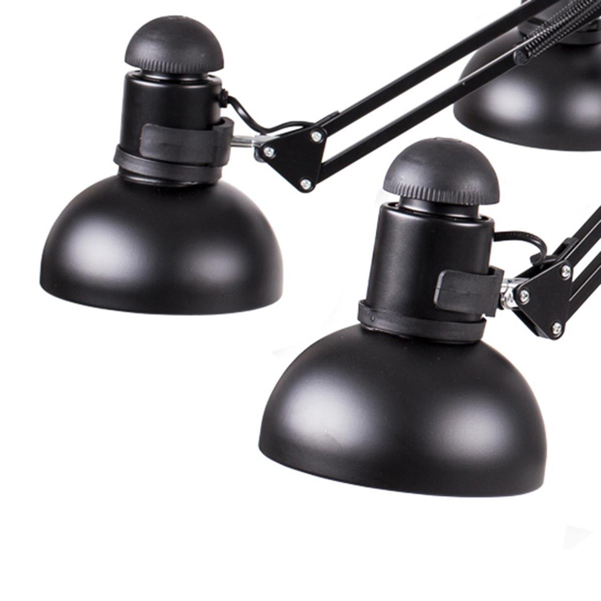 Lampa wisząca SPIDER-9 czarna 65 - 215 cm