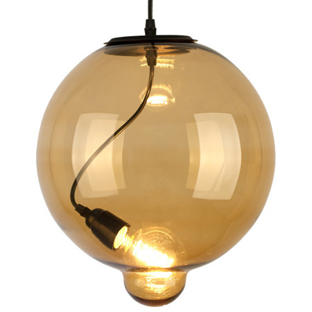 Lampa szklana Modern Glass Bubble - amber