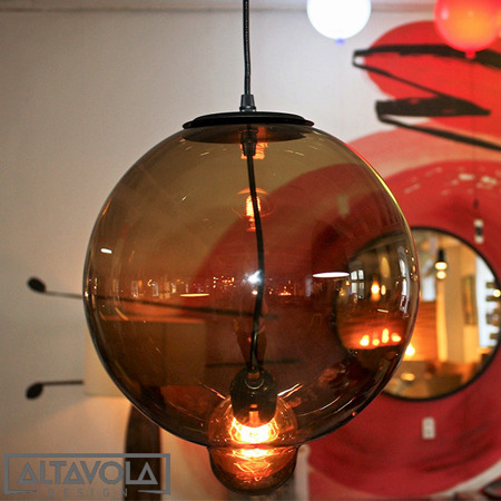 Lampa szklana Modern Glass Bubble - coffee