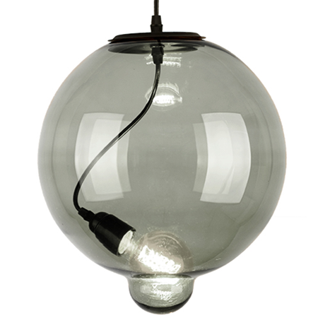 Lampa szklana Modern Glass Bubble - dymna