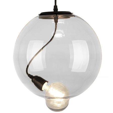 Lampa szklana Modern Glass Bubble - transparentna