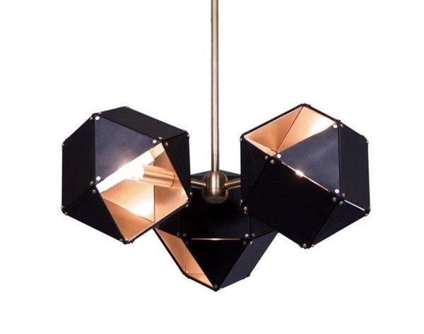Lampa wisząca NEW GEOMETRY-3 czarno złota 45 cm